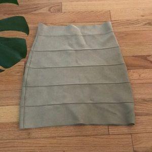 BCBG Max Azria nude/beige Bandage mini skirt